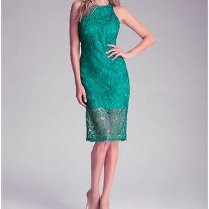 NWT Bebe midi lace dress xs 2